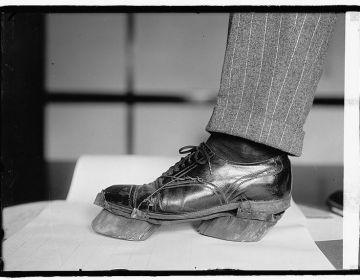 De schoen van een 'moonshiner' (ca. 1922)