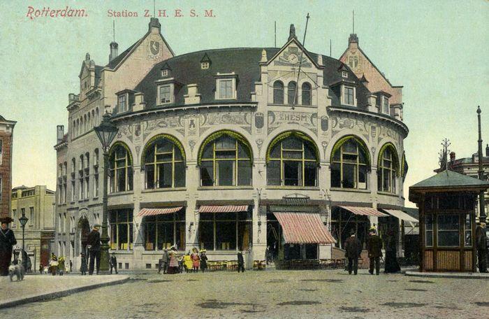 Ansichtkaart station Hofplein, ca. 1910