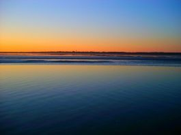 Zonsondergang bij Schiermonnikoog