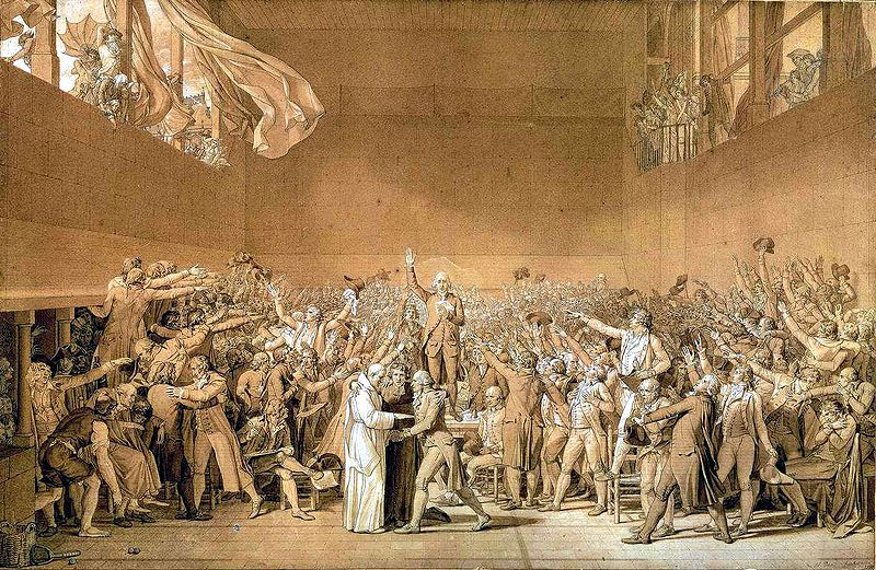 De 'Eed op de kaatsbaan' - Jacques-Louis David, 1791