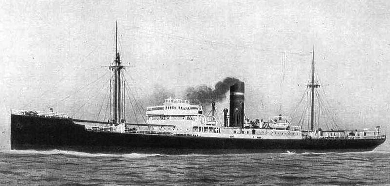 Het Franse vrachtschop SS Pavon, 120 meter lang, werd gebouwd in 1930