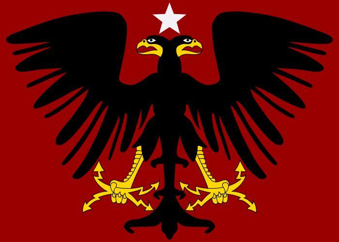 Vlag van het vorstendom Albanië Wied