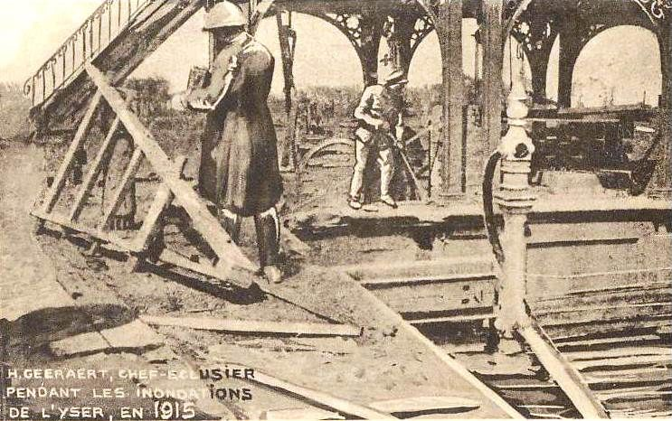 Hendrik Geeraert aan het werk, 1915