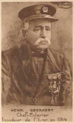 Hendrik Geeraert, de Belgische volksheld die in oktober 1914 de sluizen in Nieuwpoort opende om het oprukkende Duitse leger te stoppen