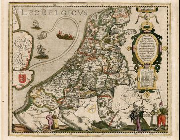 Willekeurige kaart van Pieter van den Keere (Petrus Kaerius)
