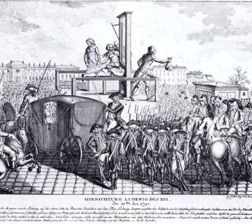 Executie van Lodewijk XVI in 1793