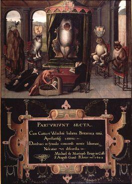 Een van de werken waarvan de herkomst onduidelijk is - Allegorie op de gerechtelijke moord op Johan van Oldenbarneveldt, 1622 (Museum Het Prinsenhof)
