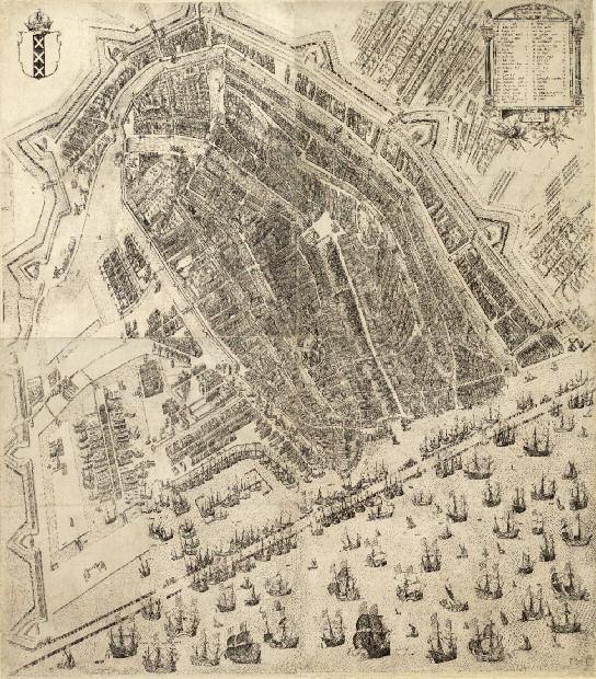Pieter Bast. Plattegrond van Amsterdam, 1597 (WBOOKS)