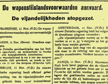 11 nov 1918, wapenstilstand Eerste Wereldoorlog