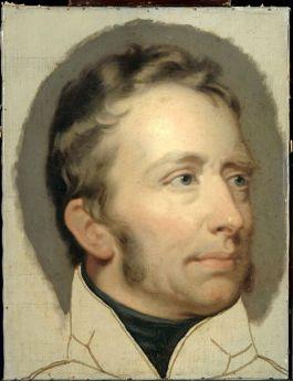 Koning Willem I (1772-1842) op een schilderij van Charklles Howard Hodges (Collectie Rijksmuseum)