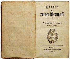 Titelblad van 'Kritik der reinen Venunft' - Immanuel Kant