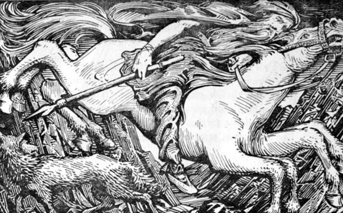 Sleipnir, het paard met acht poten