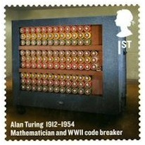 Postzegel, gewijd aan Alan Turing