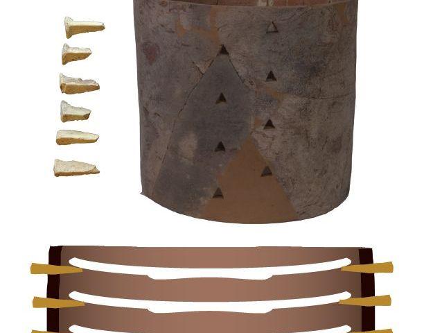 Zogenaamde kwaartkoker die bij het maken van Delfts Blauw aardewerk werd gebruikt