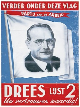 Verkiezingsposter van de PvdA uit 1952