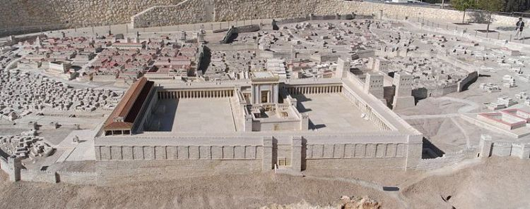 Maquette van de Tempel van Jeruzalem - Berthold Werner