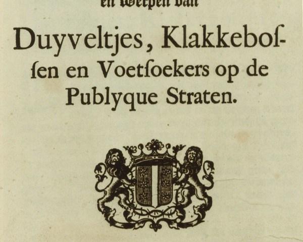 Waarschuwing voor vuurwerk uit 1732