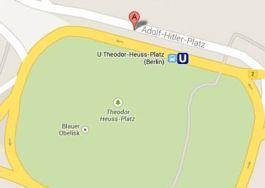 Adolf-Hitler-Platz in Berlijn op Google Maps