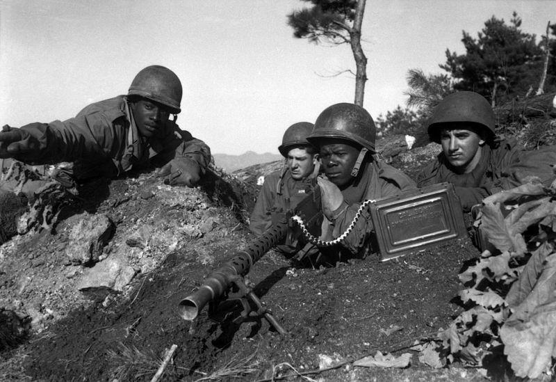 Amerikaanse soldaten tijdens de Koreaanse Oorlog - cc