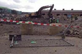 Bouwterrein waar het incident zich voordeed - Foto: Twitter / Lois Kurth