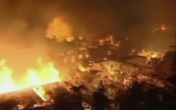 De brand van twee weken geleden in Dukezong
