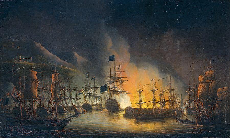 Bombardement van Algiers (1823 doek van Martinus Schouman – Rijksmuseum via wiki)