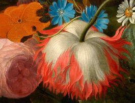 Een festoen met bloemen en fruit - Pieter Galis (detail)