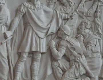 Karel en enkele paladijnen (Alte Nationalgalerie, Berlijn)