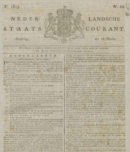 Nederlandsche Staatscourant, 1815