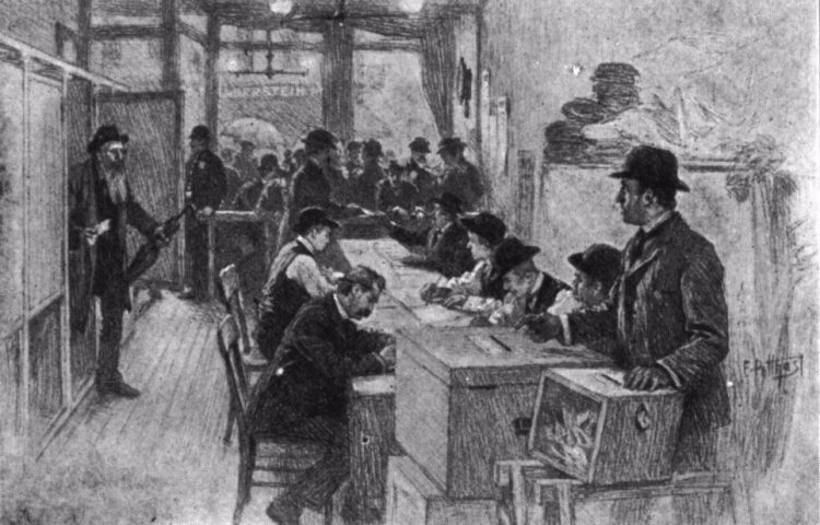 Stemmen in New York – E. Benjamin Andrews, 1912