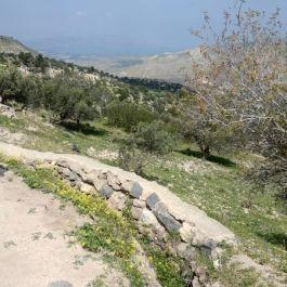 De helling van Gadara naar het Meer van Tiberias