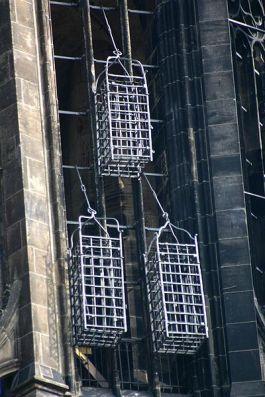 Kooien aan de toren van de kerk van Sint Lambert in Münster - Foto: CC/Rüdiger Wölk