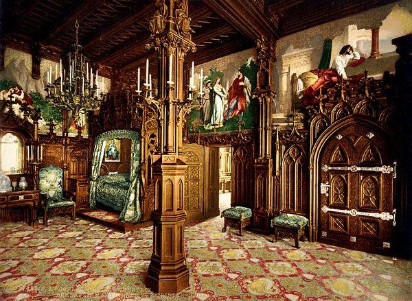 Slaapkamer in Slot Neuschwanstein