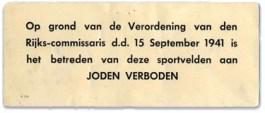 Verboden voor Joden (verzetsmuseum.org)