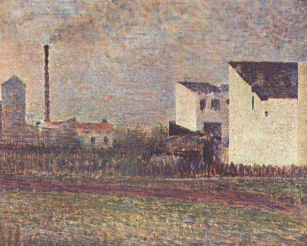 Banlieue - Georges Seurat, ca. 1882