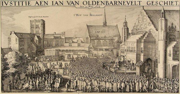 De terechtstelling van Van Oldenbarnevelt in Den Haag