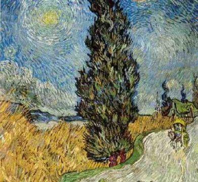 Cipres-schilderij van Vincent van Gogh