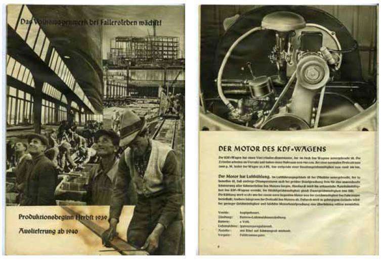 Folder voor de Volkswagen of KdF-Wagen uit 1938.
