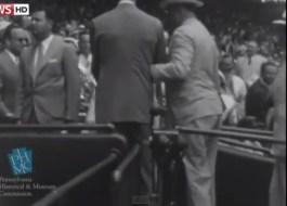 Lopende president Roosevelt (Still YouTube)