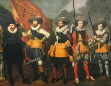 Nicolaes Lastman en Adriaen van Nieulandt - Schutters van het vendel van kapitein Abraham Boom en luitenant Oetgens van Waveren, 1623 (Amsterdam Museum)