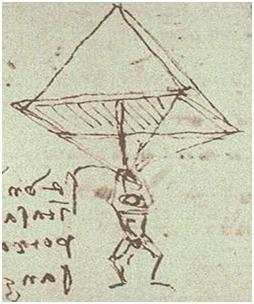 Parachute van Leonardo da Vinci