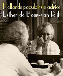 Promotieposter voor de tentoonstelling over Esther de Boer-van Rijk