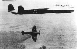 Slag om Engeland - Een Spitfire valt een Dornier Do 17 aan