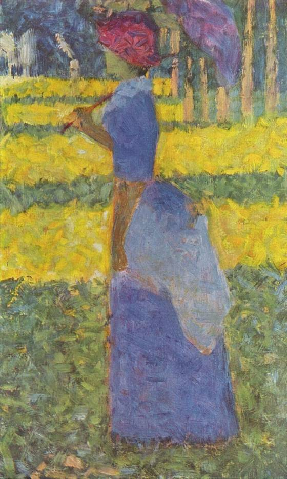 Vrouw met paraplu - Georges Seurat, 1884