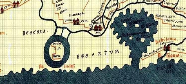 Detail van de Peutinger kaart