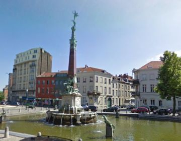 Het Anspachmonument in Brussel (Google Street View)