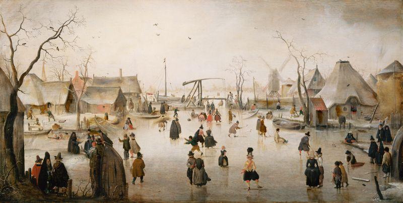 IJsvermaak - Hendrik Avercamp, ca. 1610