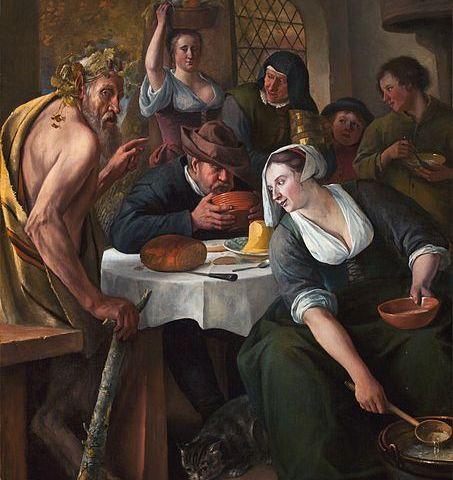 Fabel van de sater en de boer - Jan Steen ca. 1660