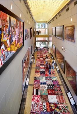 Het tapijt in de Schuttersgalerij van het Amsterdam Museum