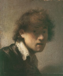 Het zelfportret van Rembrandt dat onderdeel uitmaakt van de collectie van de Alte Pinakothek